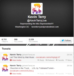Kevin Terry Twitter page